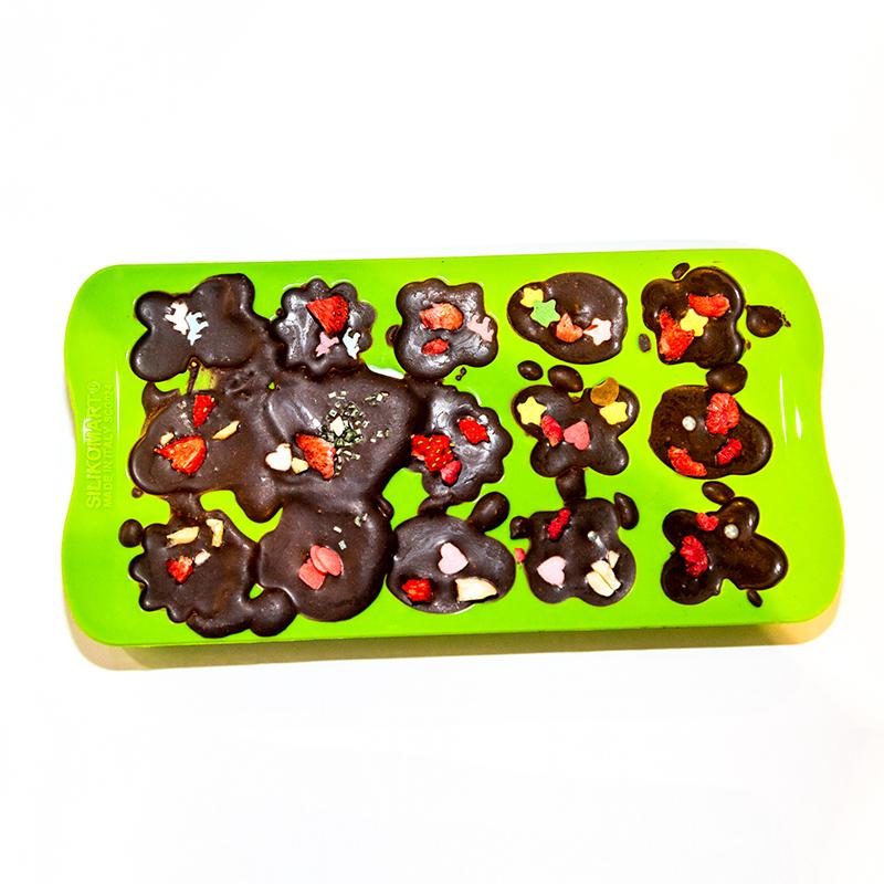 Kinder Silikonform Fruehling fuer Schokoladen Pralinen