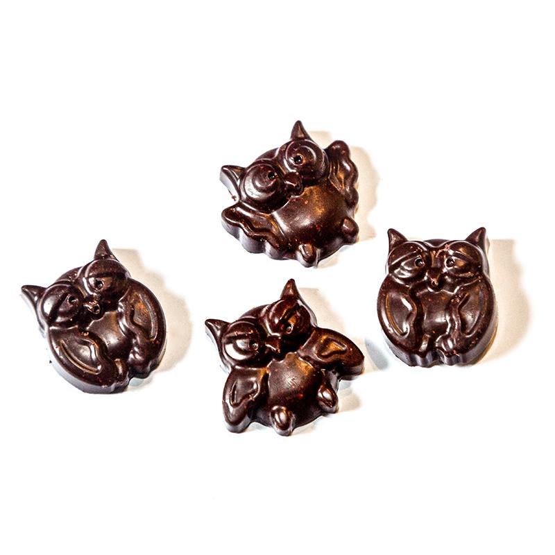 Kinder Silikonform Eule fuer Schokoladen Pralinen