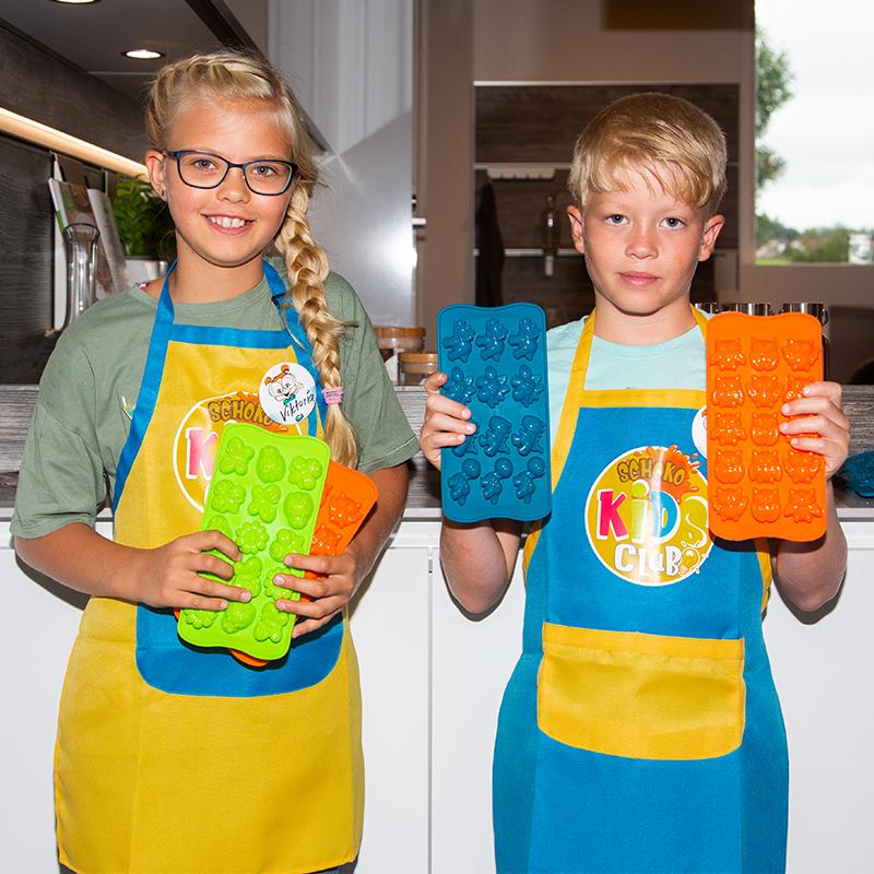 Kinder Backschuerze, Kochschuerze Motiv Schoko Elli